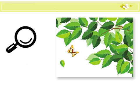Image of Green Tree & Butterfly Wall Decal