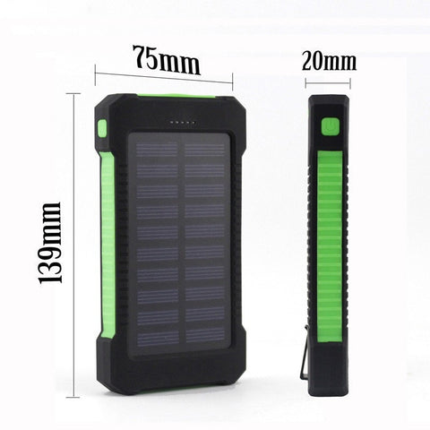 Image of Universal USB Waterproof Dual Charge Solar Power Bank & LED Light