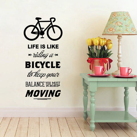 Image of Bicycle Balance Quote Wall Decal