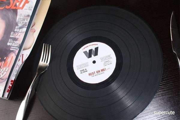 Retro Vinyl Record Dining Table Mat