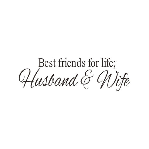 Image of Husband&Wife Best Friends Wall Decal Quote