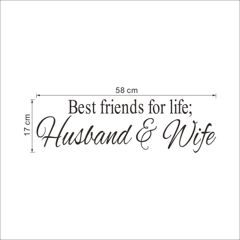 Husband&Wife Best Friends Wall Decal Quote