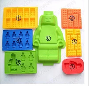 Lego-Style Mold for Chocolate or Ice