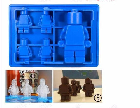 Image of Lego-Style Mold for Chocolate or Ice