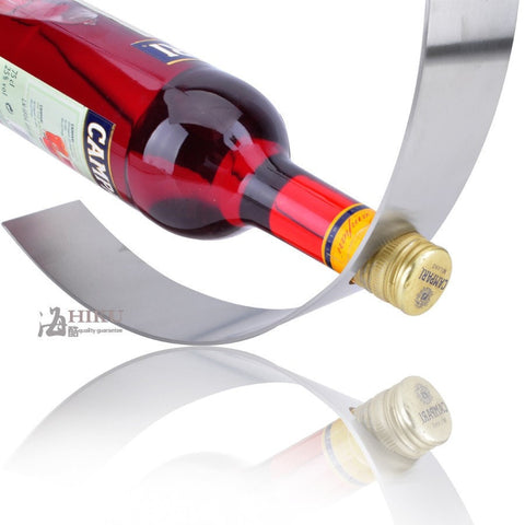 Contemporary Crescent Wine Rack