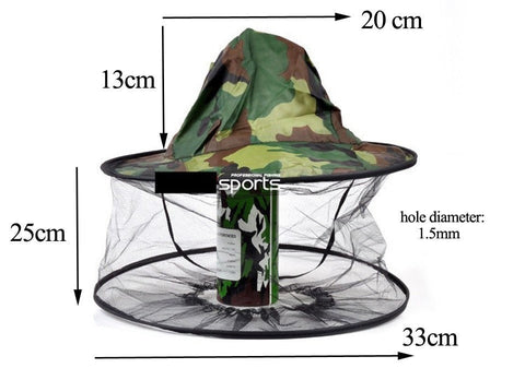 Image of Multi-Use Beekeeping & Anti- Mosquito Fishing Hat