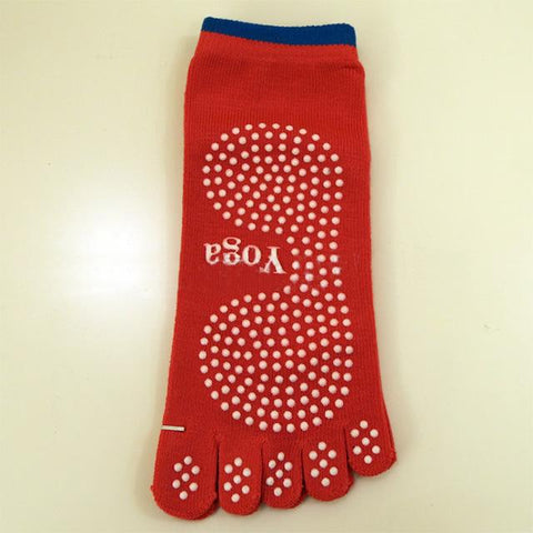 Image of Cotton Non Slip Yoga Toe Socks