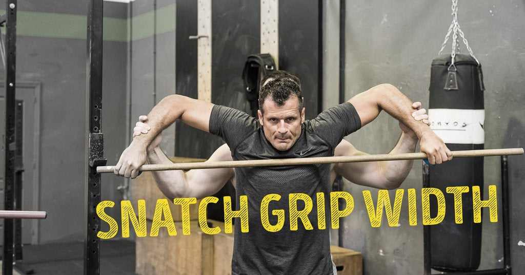 Largura do Snatch Grip