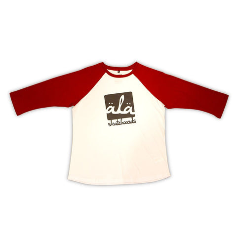 Ala Skateboards - Logo Raglan (Red) - Mobu