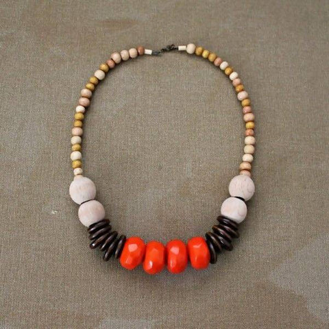Tahta Kolye Boho Necklace - Mobu