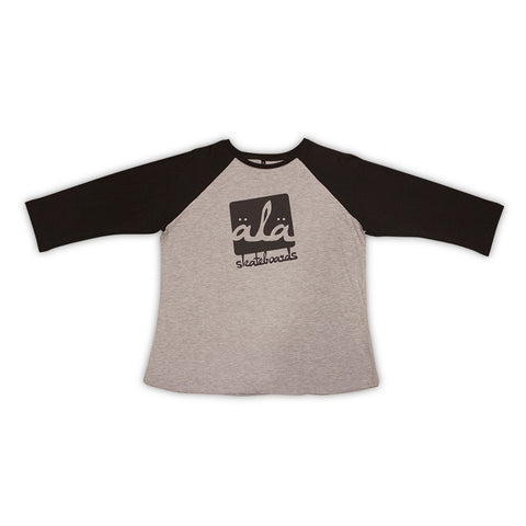 Ala Skateboards - Logo Raglan (Black) - Mobu