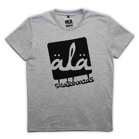Ala Skateboards - Logo Tshirt (Grey) - Mobu