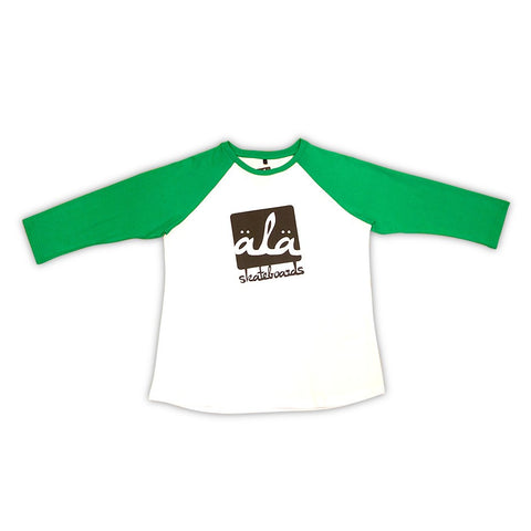 Ala Skateboards - Logo Raglan (Green) - Mobu