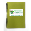 Set of 5 - 2 Fold Diary Wiro A5 size made out of Recycled Paper Single Line 100 pages - Recycle.Green brand