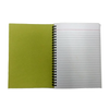 Set of 5 - 2 Fold Diary Wiro A5 size made out of Recycled Paper Single Line 150 pages - Recycle.Green brand