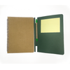 Set of 5 - 3 Fold Diary Wiro A5 size with Post it and Pen made out of Recycled Paper Single Line 100 pages - Recycle.Green brand
