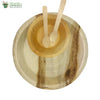 "Set of 10 areca round plt 10""+bowl+small wooden spoon+fork biodgrdble compstble microwv+freezer safe"