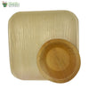 A Set of 10 - areca square plate 10 inch + bowl biodegradable compostable microwawe and freezer safe