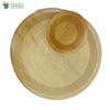 A set of 10 - areca round plate 12 inch + bowl biodegradable compostable microwawe & freezer safe