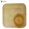 A Set of 10 - areca square plate 12 inch + bowl biodegradable compostable microwawe and freezer safe