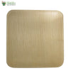 "Biodegradable Compostable Areca Square Plate table ware microwave+freezer safe 6 x 6"" (Set of 25)"