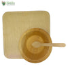"Set of 10 areca squr plate 8""+bowl+wooden spoon biodegradable compostable microwv+freezer safe"