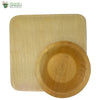 A Set of 10 - areca square plate 8 inch + bowl biodegradable compostable microwawe and freezer safe