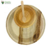 "Set of 10 areca round plt 10""+bowl+small wooden spoon biodgrdble compstble microwv+freezer safe"