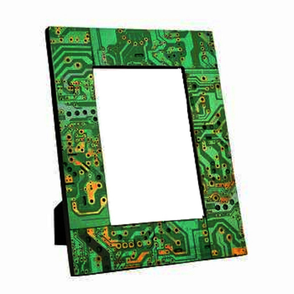 Amazing Photo Frame Made Up Out Of Waste Electronic Circuit Board Recycled Small Notebook