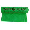 "Set of 5 rolls Biodegradable Compostable Non Plastic Dustbin Liners - 19"" x 21"" x 20 micron150 bags"