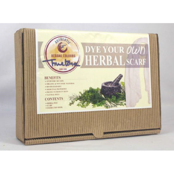 Organic herbal environmental saving children hobby kits do it organic herbal dye gift pack kit diy dye your own scarf recycled packaging solutioingenieria Choice Image