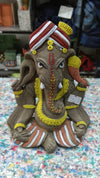 Biodegradable Non Polluting Eco Friendly Ganpati Murti 6 inches with Colours