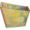 File folder box made out of cloth waste (khadi) paper