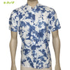Organic herbal dyed Cambric men's shirt (Chinese Tie n Dye)  half sleeve
