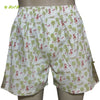 Organic herbal dyed unisex innerwear boxer hooded print cambric