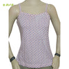 Organic herbal dyed women's innerwear camisole short flower dot print knit