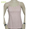 Organic herbal dyed women's innerwear camisole short geometric flooral print knit