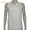 Organic herbal dyed men's innerwear bandee v neck sleeveless cambric (2 colours)