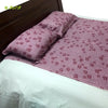 Organic Herbal Dyed Double Bed Sheet Satin Cub Flower (Joint) Pink Red