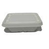 Biodegradable Compostable Sugarcane Bagasse 750 ml Container Box 6 x 5.5 inch with cover