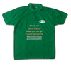 Waste PET Bottles Recycled to make this T Shirt - 50% PET 50% Cotton Polo Green