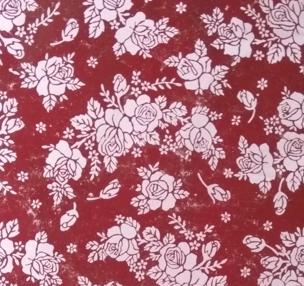 Giftwrapping Wrapping Paper Shining Red With Flowers Recycleeen