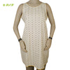 Organic herbal dyed women's short kurta sleeveless saras Cambric flower & diamond