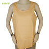 Organic herbal dyed women's top sleeveless racer back round neck cambric