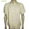 Organic herbal  Yarn dyed men's shirt (Mike) Half sleeve