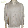 Organic herbal dyed Cambric men's shirt (Dark Taupe) Full sleeve