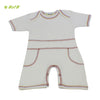 Organic herbal dyed baby body suit shorts half sleeve