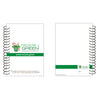 Set of 5 - Notebook Diary Wiro A5 size made out of Recycled Paper single line 25 pages- Recycle.Green brand