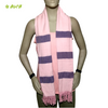 "Organic Herbal Dyed Stole / Scarf Yarn Dyed 65"" x 21"" Pink/Violet"