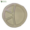 Biodegradable Compostable Sugarcane Bagasse Round Plate with 4 compartments 11 inch  (Set of 25)